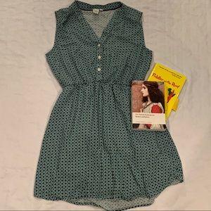 Twik geometric button up dress